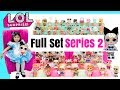 LOL Surprise Dolls COMPLETE Set of SERIES 2 Wave 1 Big+ Lil Sisters Ultra Rare LOL doll in Real Life