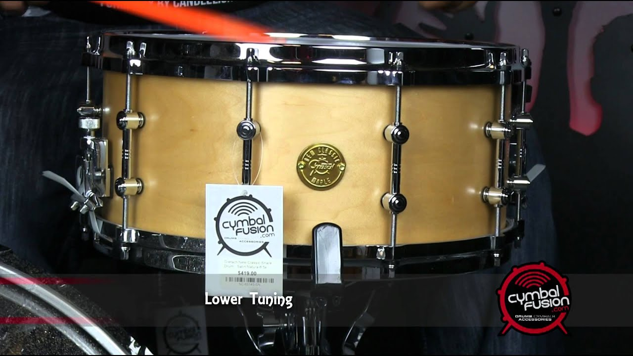Gretsch New Classic Satin Natural Gretsch New Classic Snare Drum