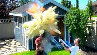 Fire Extinguisher Ball vs Flamethrower