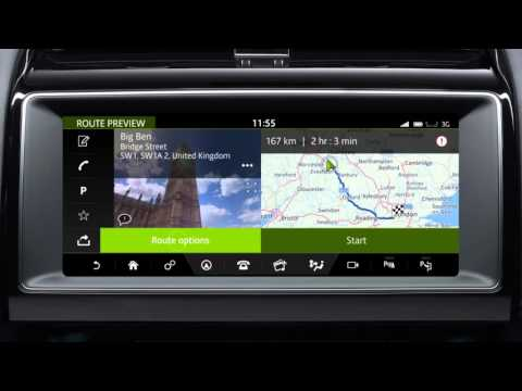 Jaguar F-PACE 2017   InControl Touch Pro Navigation: Entering a Destination