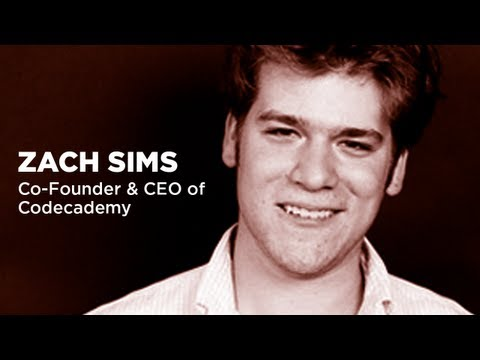 Zach Sims - Co-Founder and CEO of Codecademy