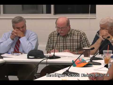 Bennington School District Board - 9/3/14