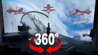 360° cockpit view | Lauberhorn 2016 | Patrouille Suisse and Airbus