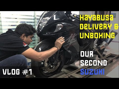 Hayabusa Unboxing & Delivery 2017, Bengaluru, India (Detailed Video)