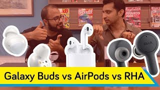 Which is best? | Samsung Galaxy Buds Vs RHA TrueConnect Vs Apple AirPods 2