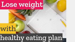 How to lose weight naturally with healthy eating plan?