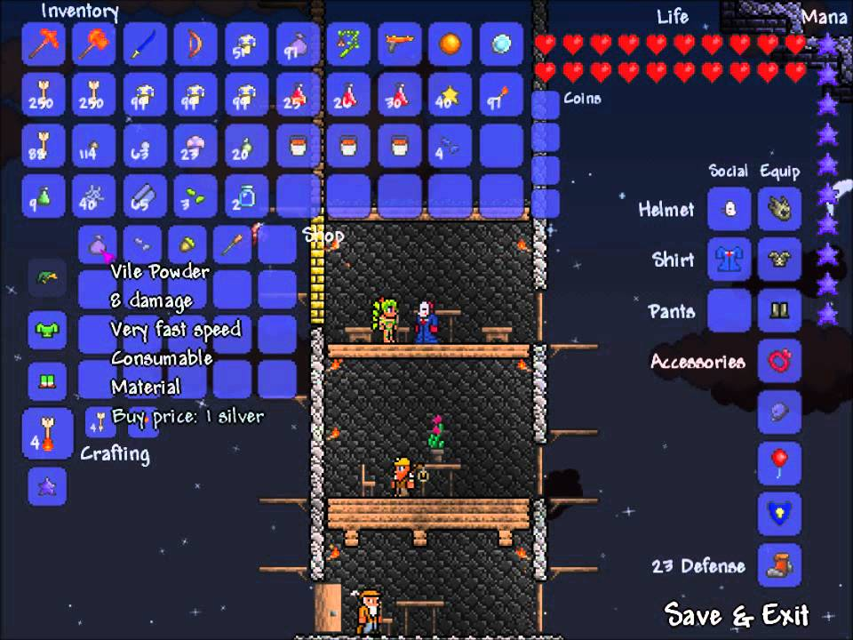 how to put in a seed in terraria