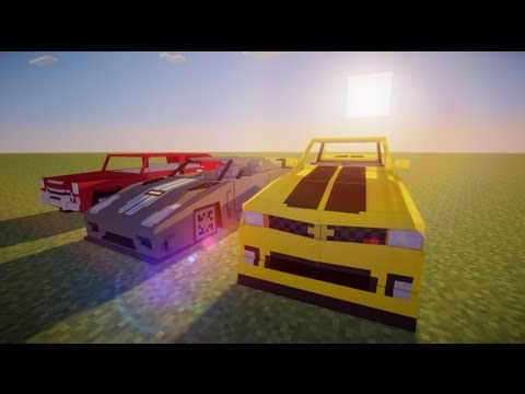 Minecraft Mod Spotlight - Sports cars UPDATED (Spino vehicle pack 4.0)
