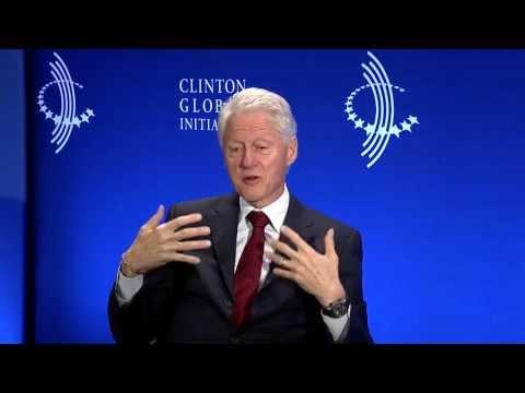 CNBC's Maria Bartiromo talks with President Bill Clinton - 2013 CGI Annual Meeting
