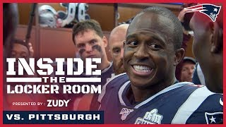Inside the Locker Room: Patriots celebrate win over Steelers
