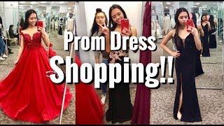 PROM DRESS SHOPPING 2018!!
