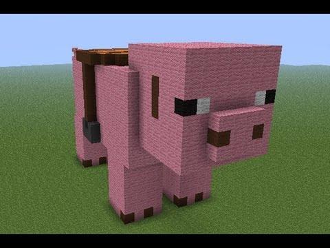 Tuto statue de cochon fr youtube - Minecraft cochon ...