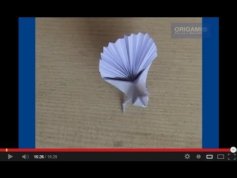 Оригами павлин схема - Оригами