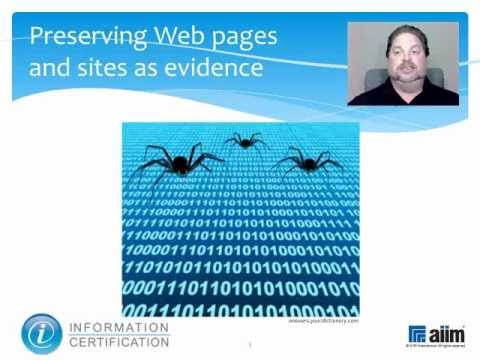 eDiscovery Web Capture, Authentication and Costs