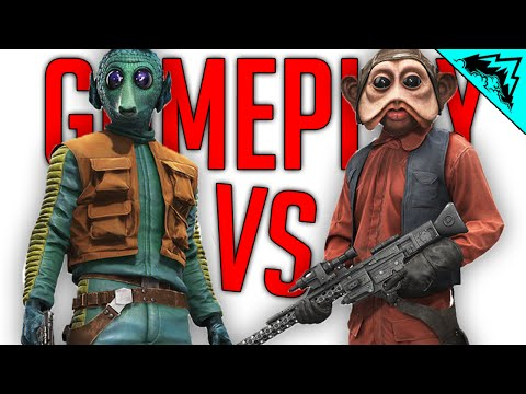 NEW HERO GAMEPLAY! Battlefront Greedo & Nien Nunb Gameplay - Heroes Vs Villains (Star Wars)