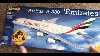 Revell Airbus A380 Emirates unboxing