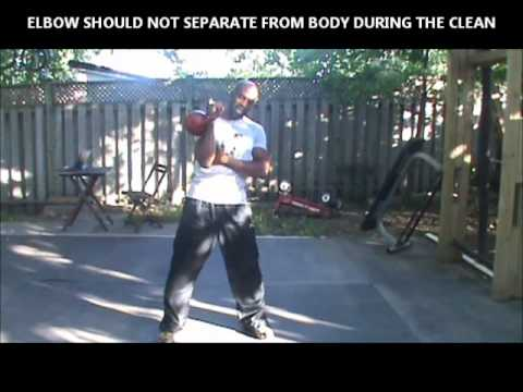 HOW TO DO KETTLEBELL CLEAN AND PRESS - KBELL BASICS Image 1