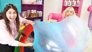 WHO CAN MAKE THE BIGGEST SLIME BUBBLES CHALLENGE #Slimeatory #601