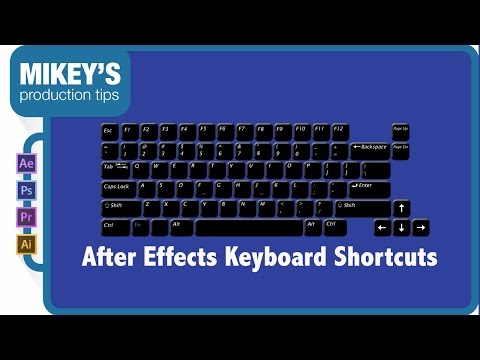After Effects Keyboard Shortcuts, Tips and Tricks