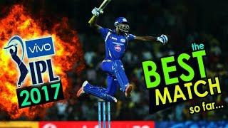 MI vs KKR : BEST MATCH of IPL 10