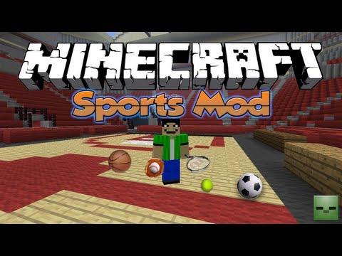 Minecraft Mods: Sports Mod [Fútbol, Basket, Tenis, Beisbol][Forge][1.7.10](Act.)