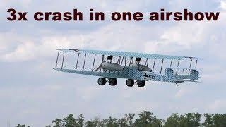 3x crash in one First Word War airshow, 2017