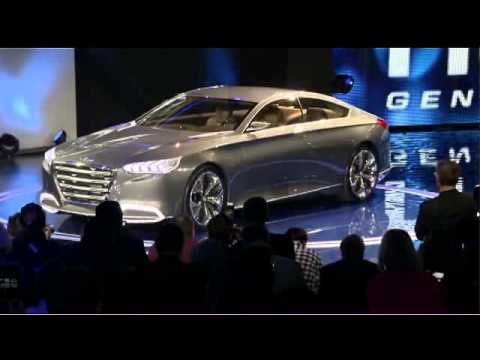 Hyundai Genesis concept reveal at 2013 NAIAS