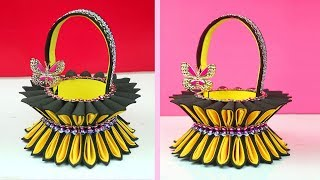 Best out of waste easy ideas for Basket out of plastic bottle - Bottle & Foam Basket in Easy Way