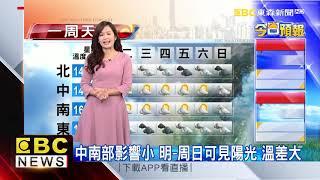 氣象時間 1070122 早安氣象 東森新聞