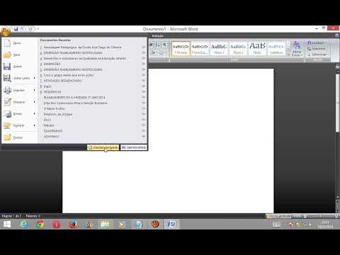 Como Mudar a Cor Dos Lados do Microsft Word 2007 e 2010