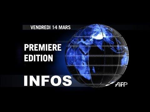AFP - Le JT, 1ère édition du vendredi 14 mars
