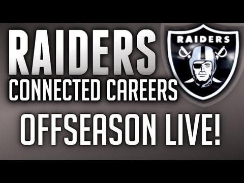 Madden 13 Raiders Connected Careers OFFSEASON LIVESTREAM!! (6:30 PM Central)