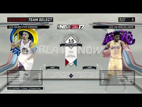 NBA 2K17 - PS4 Gameplay - Play Now - Golden State Warriors Vs Los Angeles Lakers [1080p60]