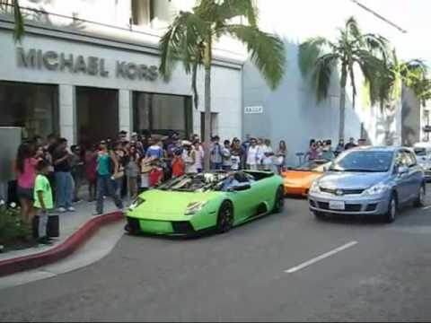Supercar Party On Rodeo Drive Youtube