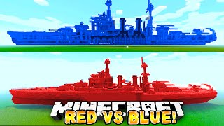 Minecraft - RED VS BLUE BATTLE SHIP! #1 - w/ Preston & Woofless
