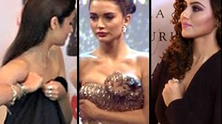 Bollywood HOT actresses ADJUSTING DRESS | Uncut Video