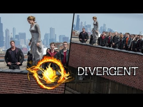 "New ""Divergent"" Photo - Tris Jumping Off Buiding"