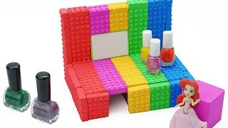 Learn Colors With Makeup Table Princess Baby Doll Surprise Toys Creative Fun For Kids 2018