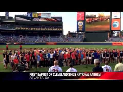 First Baptist Cleveland TN sings national anthem at Atlanta Braves game