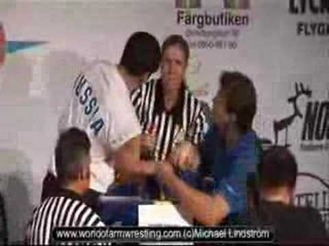 Viacheslav Muriev VS Sharon Remez- World of Armwrestling.com