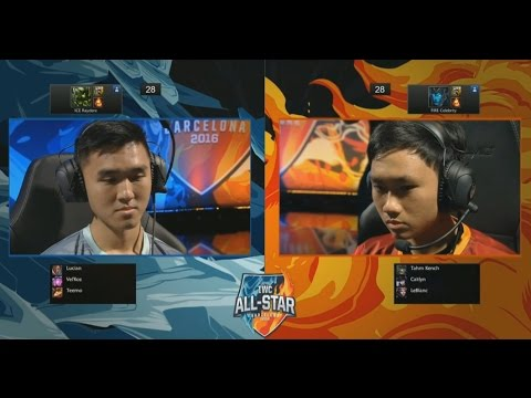 Raydere Urgot Vs Celebrity Kalista (1 Vs 1) - 2016 IWC All Star Day 3
