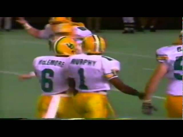 Oregon WR Kory Murphy 21 yard reception vs. Hawaii 9-10-1994