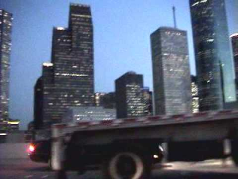 Houston Texas Downtown drive