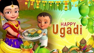 Ugadi Habba Subhasayagalu | Happy Ugadi | Kannada Rhymes for Children | Infobells