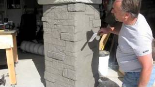 Decorative Concrete used to create Stone Masonry