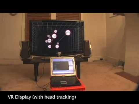 Head Tracking for Desktop VR Displays using the WiiRemote Video