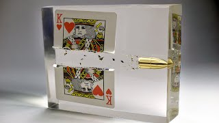 Bullet Through Playing Card- Slow Motion Epoxy Resin Art