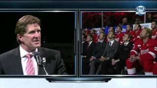 Nicklas Lidstrom Retirement Ceremony