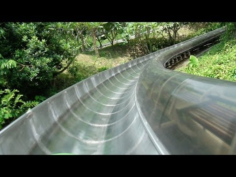 Bobkart Ride POV Powered Alpine Slide Roller Coaster Knight Valley China