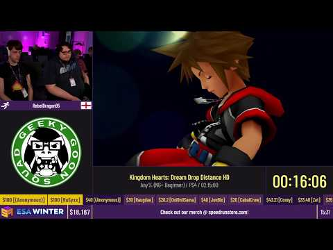 Kingdom Hearts: Dream Drop Distance HD [Any% (NG+ Beginner)] by RebelDragon95 - #ESAWinter20